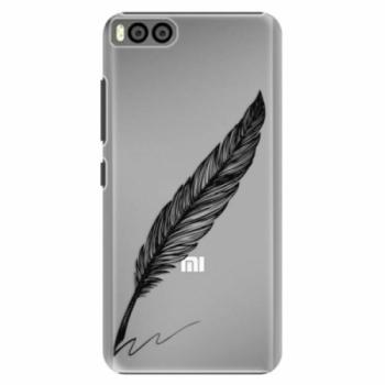 Plastové pouzdro iSaprio - Writing By Feather - black - Xiaomi Mi6