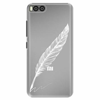Plastové pouzdro iSaprio - Writing By Feather - white - Xiaomi Mi6