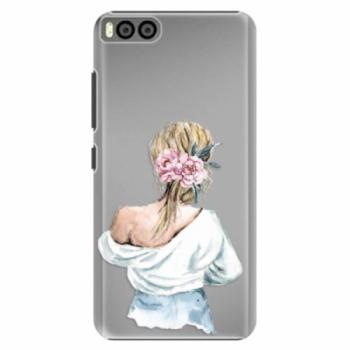 Plastové pouzdro iSaprio - Girl with flowers - Xiaomi Mi6