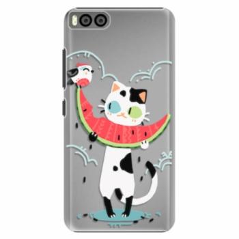 Plastové pouzdro iSaprio - Cat with melon - Xiaomi Mi6