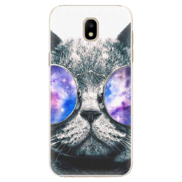 Plastové pouzdro iSaprio - Galaxy Cat - Samsung Galaxy J5 2017