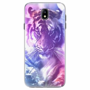 Plastové pouzdro iSaprio - Purple Tiger - Samsung Galaxy J7 2017