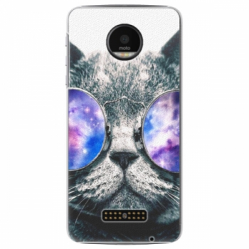 Plastové pouzdro iSaprio - Galaxy Cat - Lenovo Moto Z