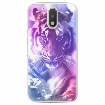 Plastové pouzdro iSaprio - Purple Tiger - Lenovo Moto G4 / G4 Plus