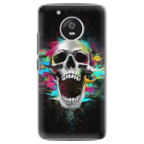 Plastové pouzdro iSaprio - Skull in Colors - Lenovo Moto G5
