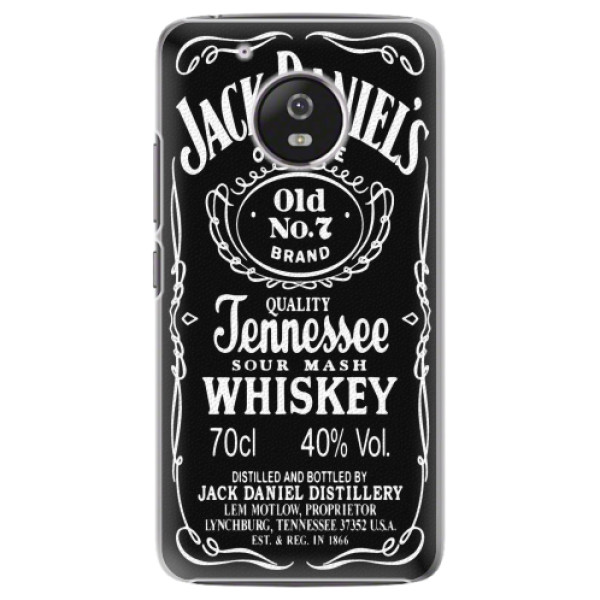 Plastové pouzdro iSaprio - Jack Daniels - Lenovo Moto G5