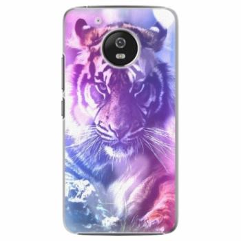 Plastové pouzdro iSaprio - Purple Tiger - Lenovo Moto G5