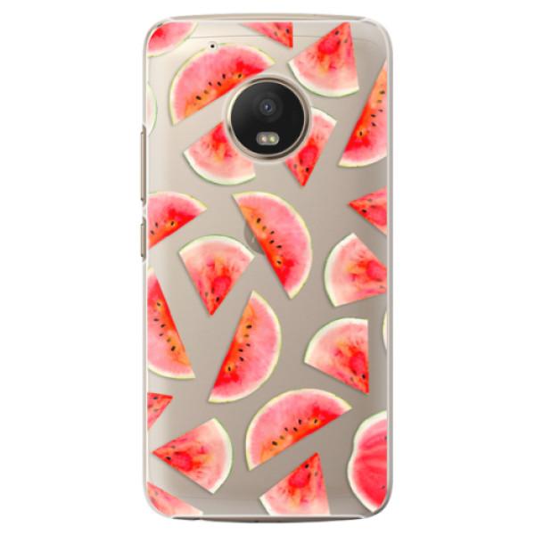 Plastové pouzdro iSaprio - Melon Pattern 02 - Lenovo Moto G5 Plus