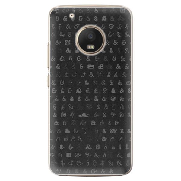 Plastové pouzdro iSaprio - Ampersand 01 - Lenovo Moto G5 Plus