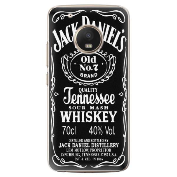 Plastové pouzdro iSaprio - Jack Daniels - Lenovo Moto G5 Plus