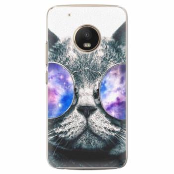 Plastové pouzdro iSaprio - Galaxy Cat - Lenovo Moto G5 Plus