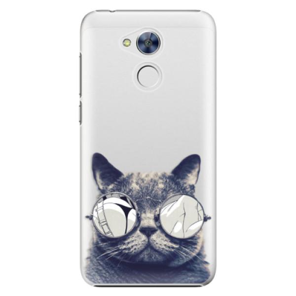 Plastové pouzdro iSaprio - Crazy Cat 01 - Huawei Honor 6A