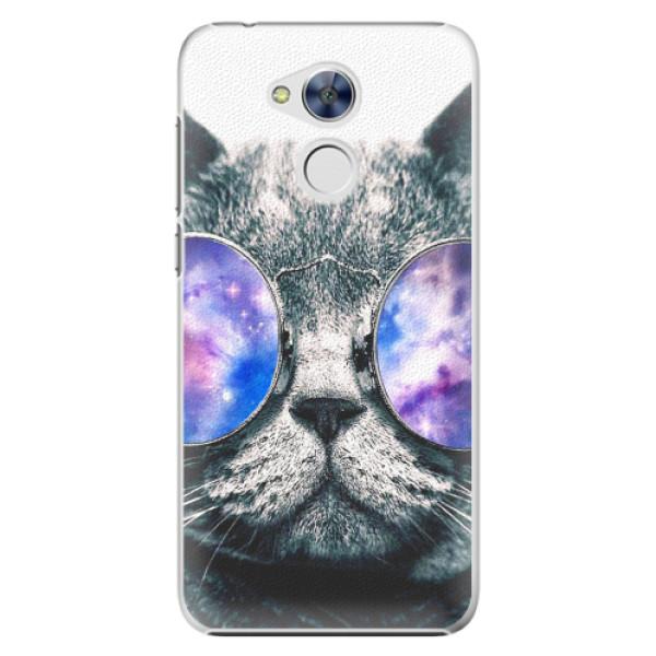 Plastové pouzdro iSaprio - Galaxy Cat - Huawei Honor 6A