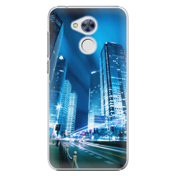 Plastové pouzdro iSaprio - Night City Blue - Huawei Honor 6A