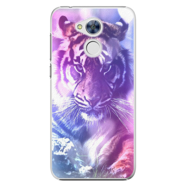 Plastové pouzdro iSaprio - Purple Tiger - Huawei Honor 6A