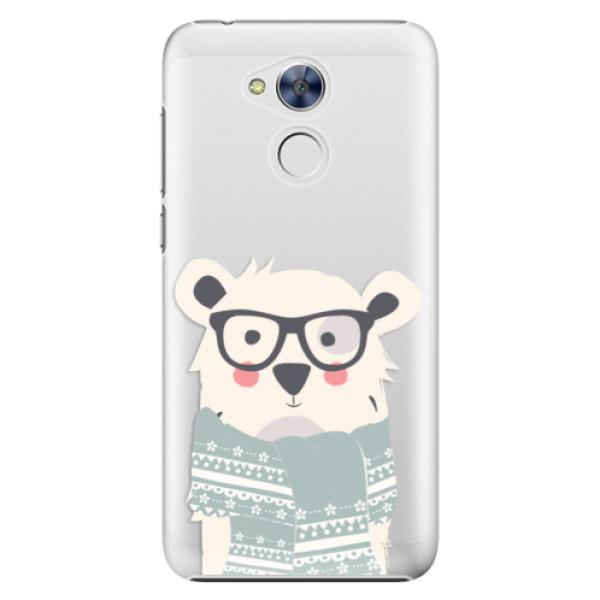 Plastové pouzdro iSaprio - Bear with Scarf - Huawei Honor 6A