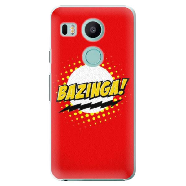 Plastové pouzdro iSaprio - Bazinga 01 - LG Nexus 5X