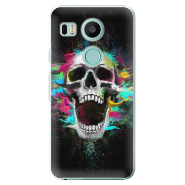 Plastové pouzdro iSaprio - Skull in Colors - LG Nexus 5X