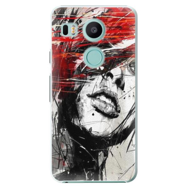 Plastové pouzdro iSaprio - Sketch Face - LG Nexus 5X