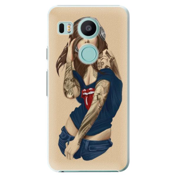 Plastové pouzdro iSaprio - Girl 03 - LG Nexus 5X