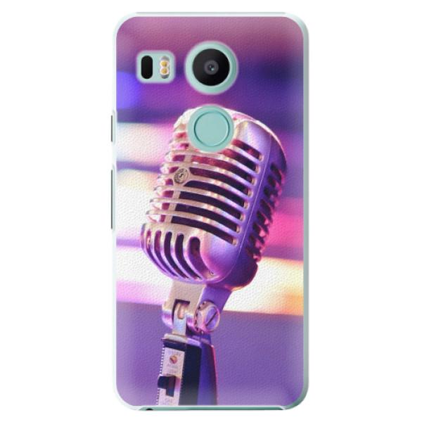 Plastové pouzdro iSaprio - Vintage Microphone - LG Nexus 5X
