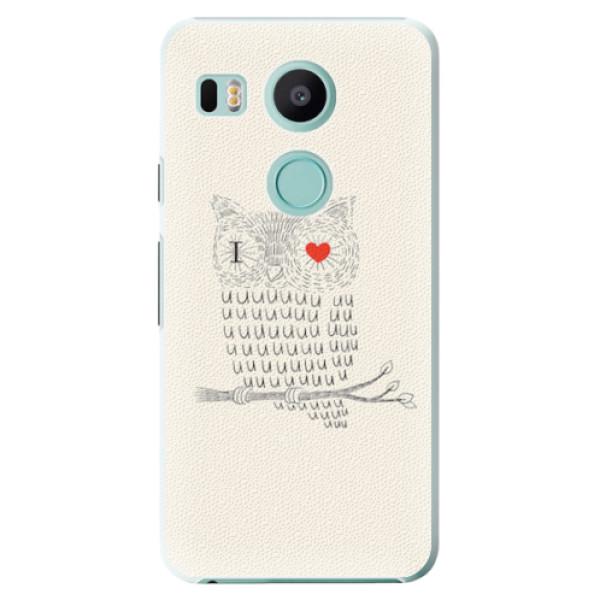 Plastové pouzdro iSaprio - I Love You 01 - LG Nexus 5X