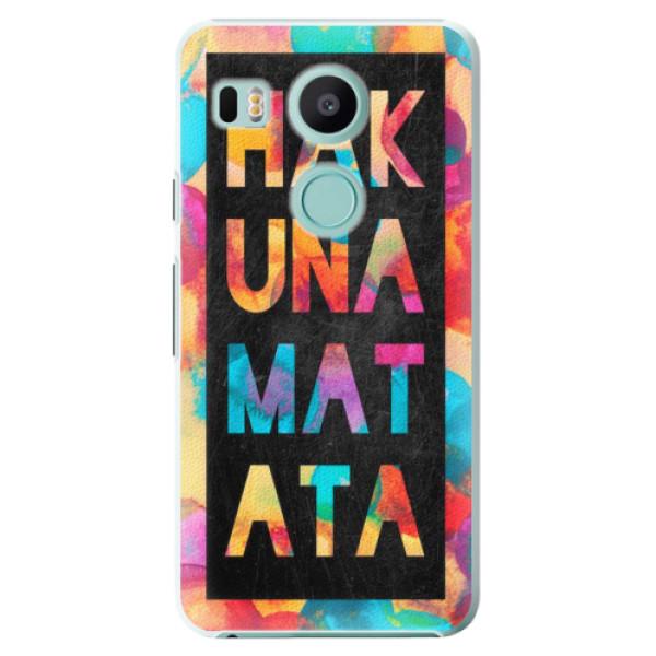 Plastové pouzdro iSaprio - Hakuna Matata 01 - LG Nexus 5X