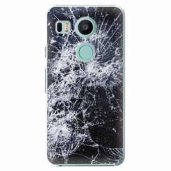 Plastové pouzdro iSaprio - Cracked - LG Nexus 5X