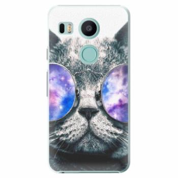 Plastové pouzdro iSaprio - Galaxy Cat - LG Nexus 5X