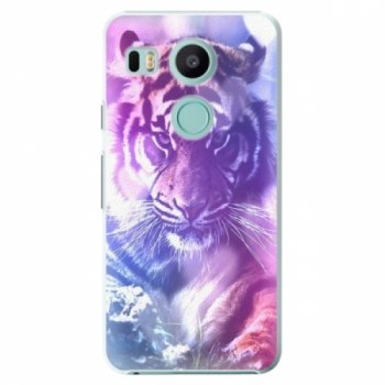 Plastové pouzdro iSaprio - Purple Tiger - LG Nexus 5X