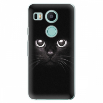 Plastové pouzdro iSaprio - Black Cat - LG Nexus 5X
