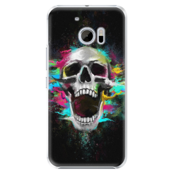 Plastové pouzdro iSaprio - Skull in Colors - HTC 10