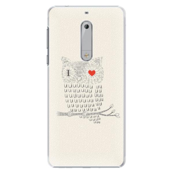 Plastové pouzdro iSaprio - I Love You 01 - Nokia 5