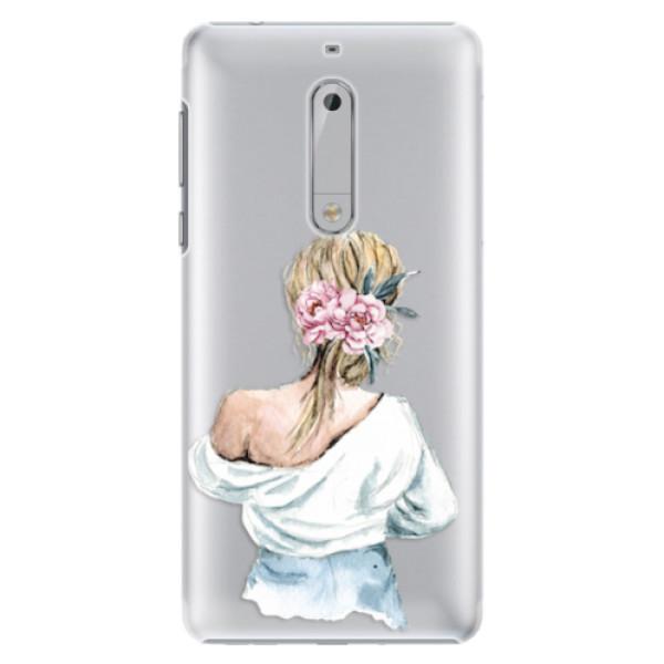 Plastové pouzdro iSaprio - Girl with flowers - Nokia 5