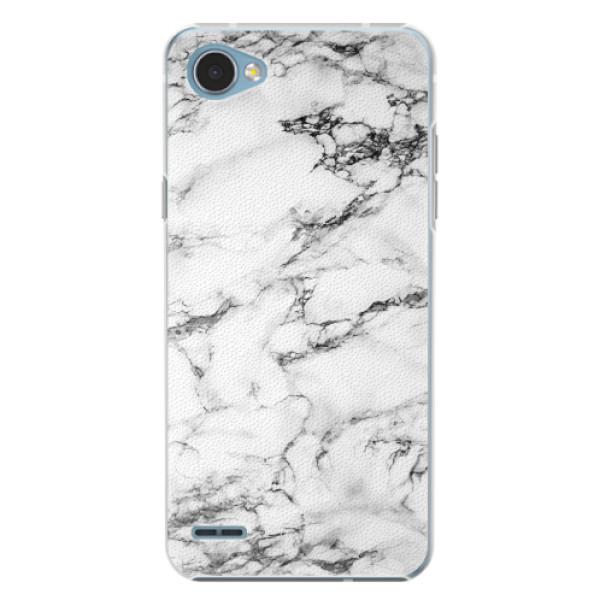 Plastové pouzdro iSaprio - White Marble 01 - LG Q6