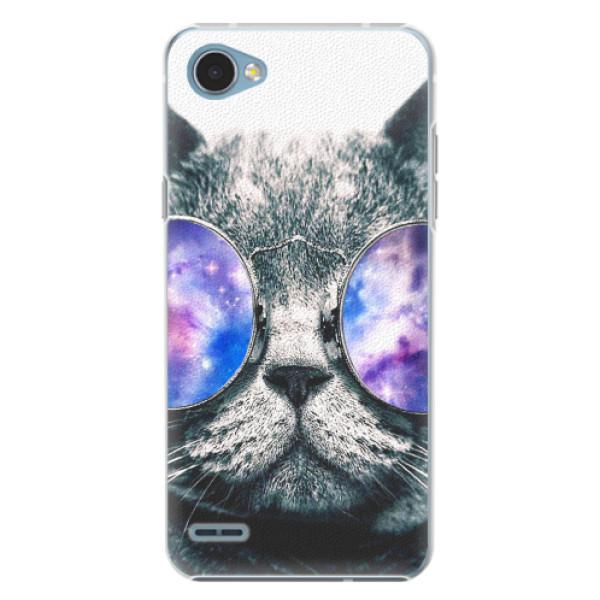 Plastové pouzdro iSaprio - Galaxy Cat - LG Q6