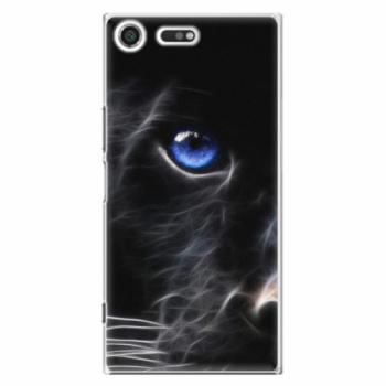 Plastové pouzdro iSaprio - Black Puma - Sony Xperia XZ Premium
