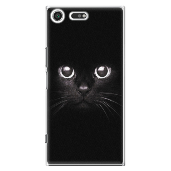 Plastové pouzdro iSaprio - Black Cat - Sony Xperia XZ Premium