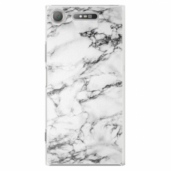 Plastové pouzdro iSaprio - White Marble 01 - Sony Xperia XZ1