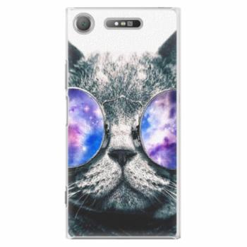 Plastové pouzdro iSaprio - Galaxy Cat - Sony Xperia XZ1