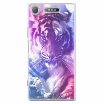 Plastové pouzdro iSaprio - Purple Tiger - Sony Xperia XZ1