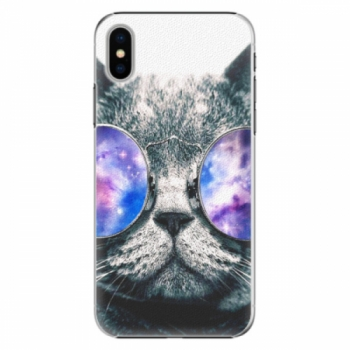 Plastové pouzdro iSaprio - Galaxy Cat - iPhone X