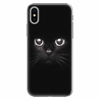 Plastové pouzdro iSaprio - Black Cat - iPhone X