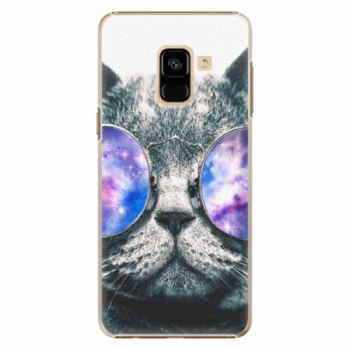 Plastové pouzdro iSaprio - Galaxy Cat - Samsung Galaxy A8 2018