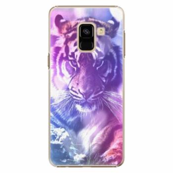 Plastové pouzdro iSaprio - Purple Tiger - Samsung Galaxy A8 2018