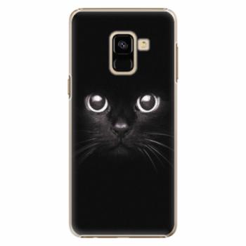 Plastové pouzdro iSaprio - Black Cat - Samsung Galaxy A8 2018