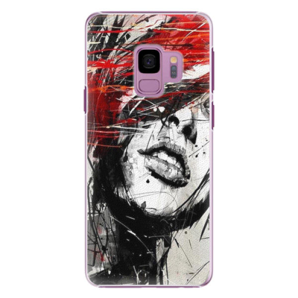 Plastové pouzdro iSaprio - Sketch Face - Samsung Galaxy S9