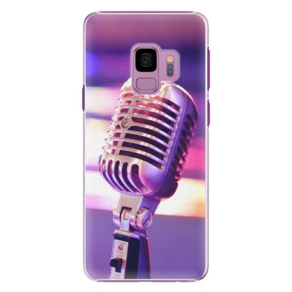 Plastové pouzdro iSaprio - Vintage Microphone - Samsung Galaxy S9