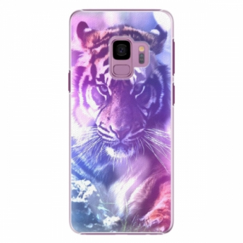 Plastové pouzdro iSaprio - Purple Tiger - Samsung Galaxy S9