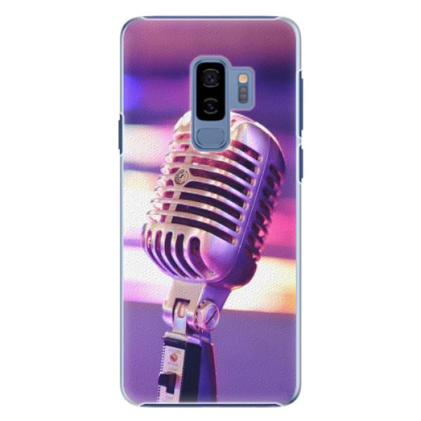 Plastové pouzdro iSaprio - Vintage Microphone - Samsung Galaxy S9 Plus